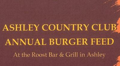 Ashley Country Club Burger Feed!